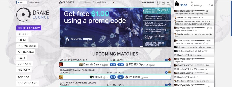 drakelounge legit cs go betting site