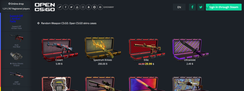 cs go open case site skins