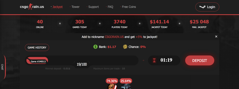 csgorain us legit betting site