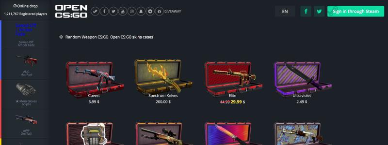 cs go open case site skins